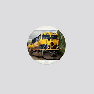 Alaska Railroad engine locomotive Mini Button